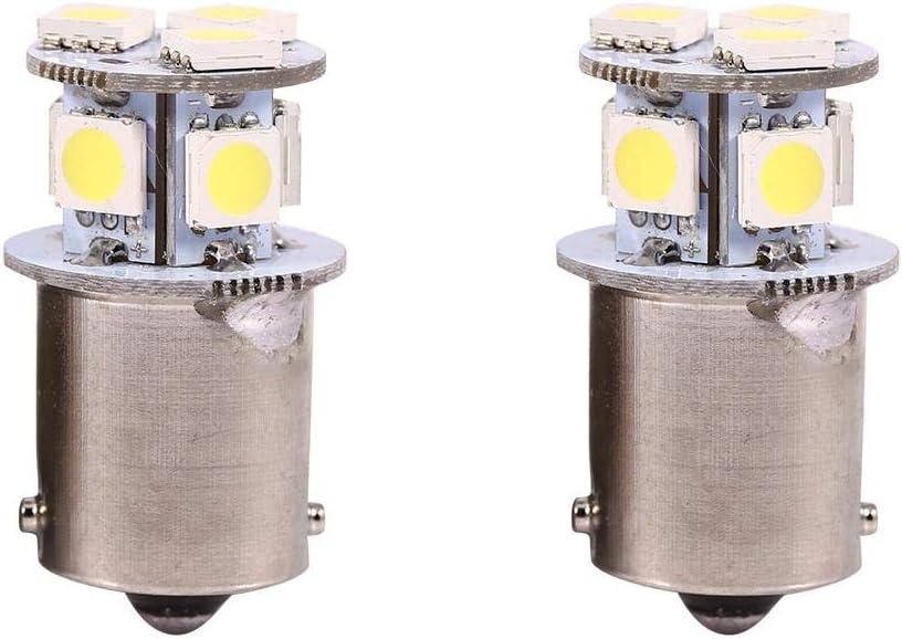 Luz blanca BA15S R5W 1156 5050 8SMD LED luces de freno del coche Bombillas (2 piezas)