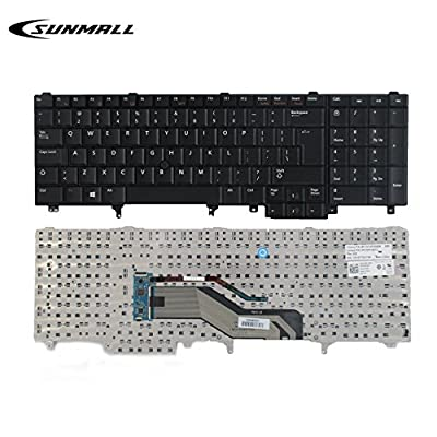 SUNMALL Replacement Keyboard with Pointer for Dell Latitude E5520 E5520m E5530 E6520 E6530 E6540 Precision M4600 M4700 M6600 M6700 Laptop US Layout(6 Months Warranty)