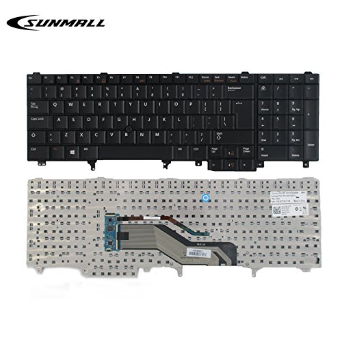 SUNMALL Replacement Keyboard with Pointer for Dell Latitude E5520 E5520m E5530 E6520 E6530 E6540 Precision M4600 M4700 M4800 M6600 M6700 Laptop US Layout(6 Months (Xeon Cpu Motherboard)