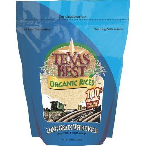 Texas Best Organics Long Grain White Rice, 32 Ounce - 6 per case. by Texas Best Organics