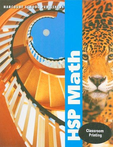 math worksheet : hsp math grade 6 harcourt school publishers 9780153412646  : Harcourt Math Worksheets