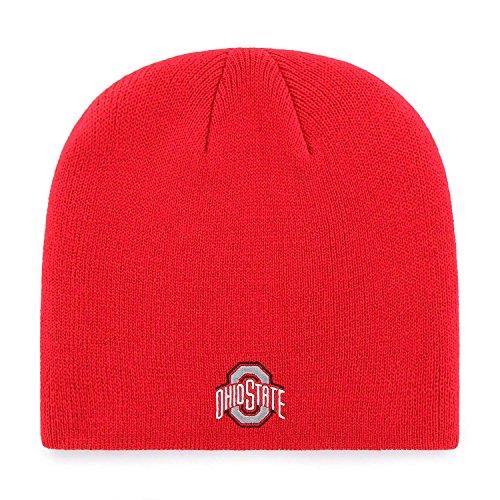 Toque Beanie Hat - ZHATS Ohio State Buckeyes Red Skull Cap - NCAA Cuffless Winter Knit Beanie Toque Hat