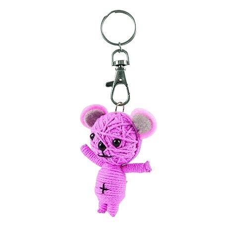 Kawaii Animals Rosa Feliz Oso Llavero muñeca de Cuerda ...