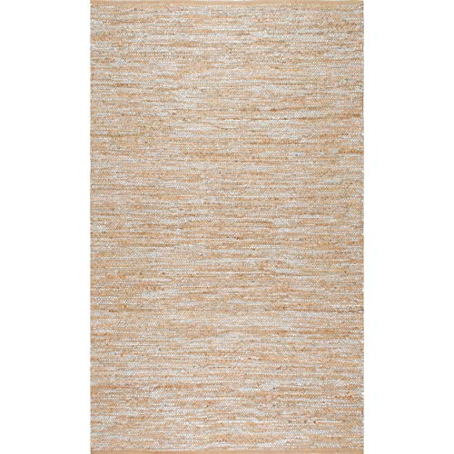 nuLOOM Tarver Hand Woven Jute Rug, 4 x 6 , Silver