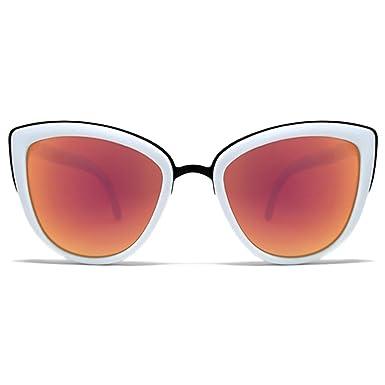 018b99e0f1c Amazon.com  Quay My Girl Sunglasses Cat Eye Frame Kitty Metallic ...