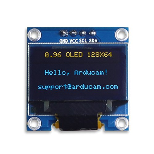 (UCTRONICS 0.96 Inch OLED Module 12864 128x64 Yellow Blue SSD1306 Driver I2C Serial Self-Luminous Display Board for Arduino Raspberry PI)