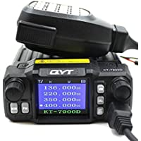 QYT KT-7900D 25W Quad Band 144/220/350/440MHZ Car Mobile Radio with External MIC