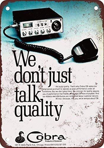 1976 Cobra CB Radios Vintage Look Reproduction Metal Tin Sign Outdoor Decor Aluminum Sign for Garage Driveway