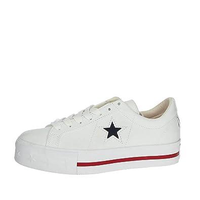 Converse ONE Star PLATF.White 564030C, Damen Sneaker: Amazon.de ...