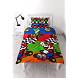 Nintendo Mario 'Champs' Single Duvet Cover Set - Repeat Print Design