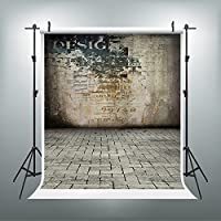 5x7ft Photography Backdrops Old Newspaper Brick Wall Photo Booth Props Picture Backdrop JXUS-LK-3190-1