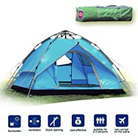 Likorlove 3 Person Camping Tent, Automatic Pop Up 3...