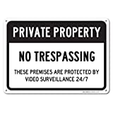 No Trespassing Sign - Private Property Sign, Large 10x14