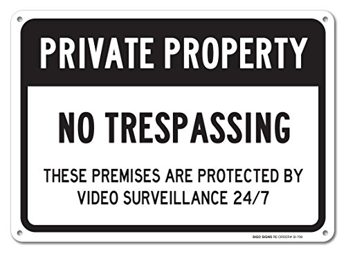 No Trespassing Sign Property Aluminum