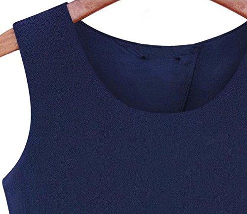 Ukamshop Les femmes sans manches bowknot Casual Pantalon court Combinaison Salopette Romper
