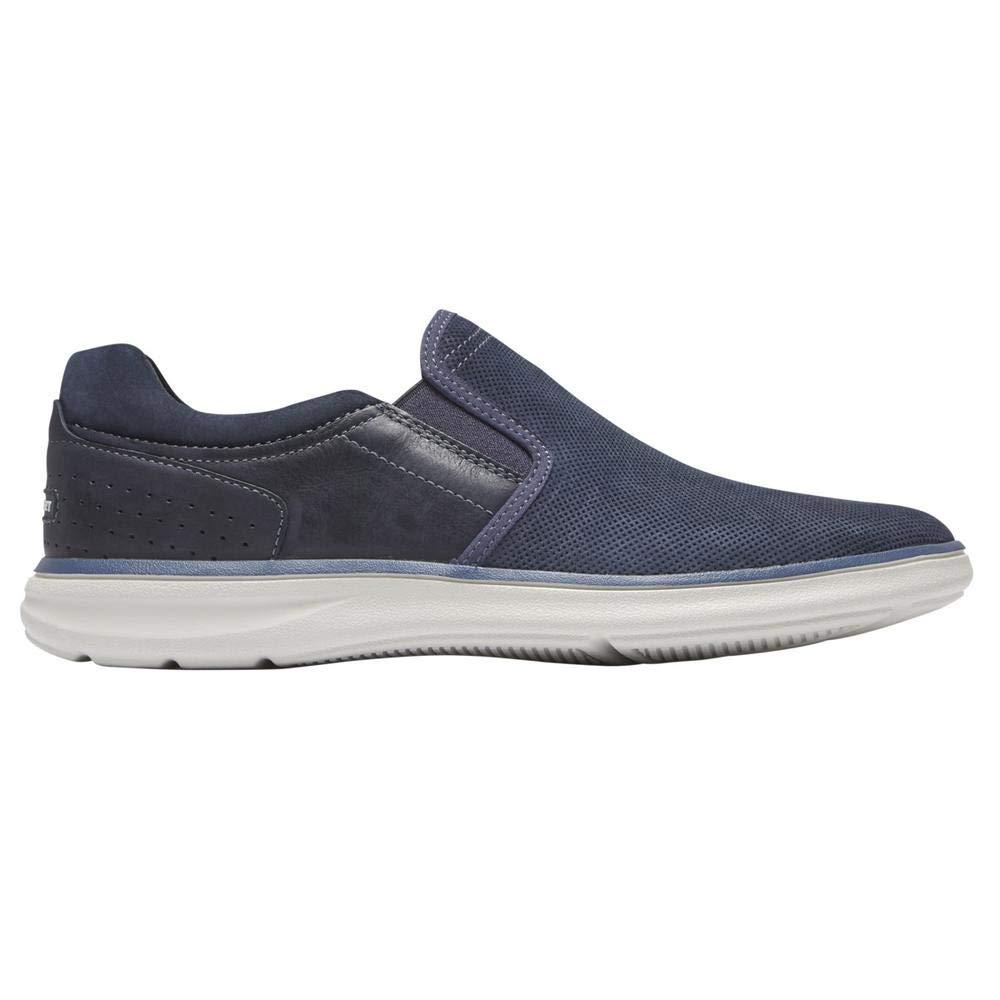 TALLA 45 EU. Rockport Zapato Casual Zaden Gore Slip ON Navy Lea