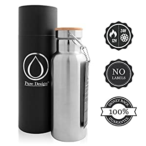Insulated Water Bottle Vacuum 33oz / Stainless Steel Insulated Drinking Water Bottle