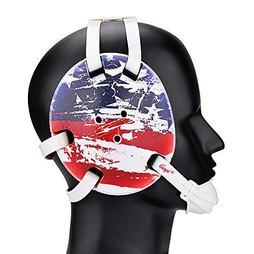 Geyi Wrestling Headgear with American Flag Digital Printing Art