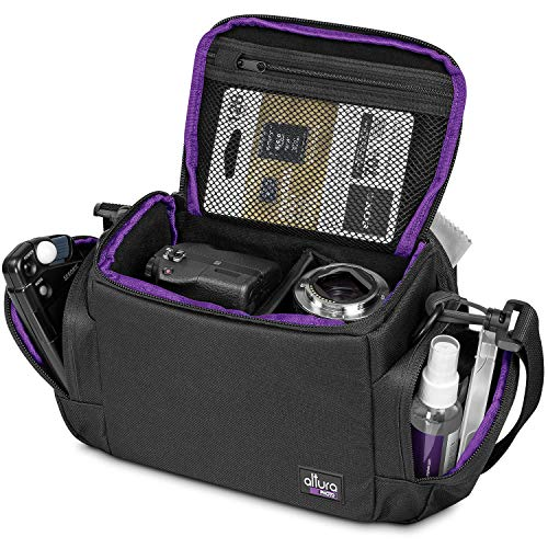 Medium Camera Bag Case by Altura Photo for Nikon, Canon, Sony, Fuji Instax, DSLR, Mirrorless Cameras and ()