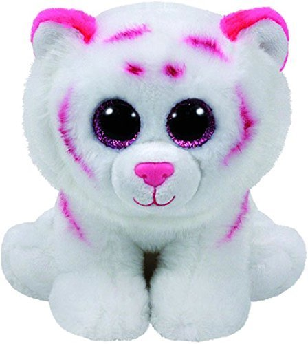 TY Beanie Babies Medium Tabor Plush - Pink and White with Printed Birthday  Ribbon 5a33c267ff13