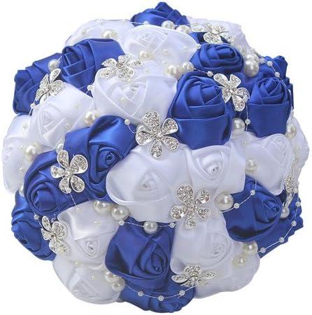 Amazon Com Xnjhms Black Ivory Silk Artificial Flower Bridal