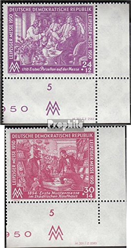 DDR 248DV-249DV with Publication info (Complete.Issue.) 1950 Leipzig Spring Fair (Stamps for Collectors)