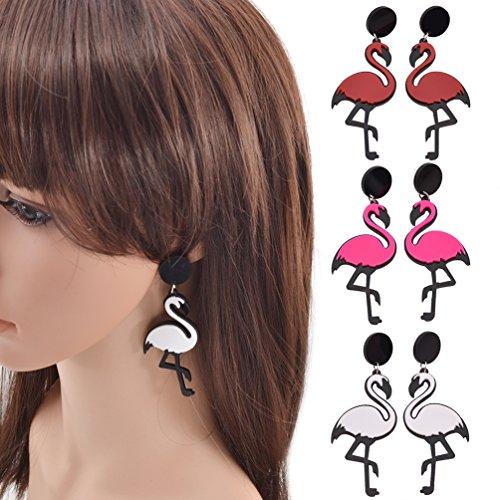 Acrylic Pendant Earrings Geometric Shape Big Statement Drop Hook Ear Studs Gift