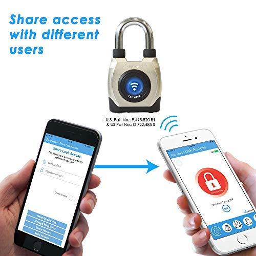 eGeeTouch Outdoor Smart Padlock 3rd Gen, Weatherproof, Bluetooth + NFC (Short Shackle) by eGeeTouch (Image #7)