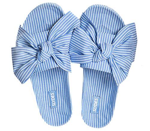 Slider Sandales Stripe Pour Femmes Slydes Brighton qFAv66