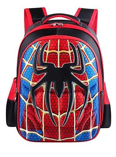 Captain Iron Man Spider Man Superman Backpack for kids Spider red Age7