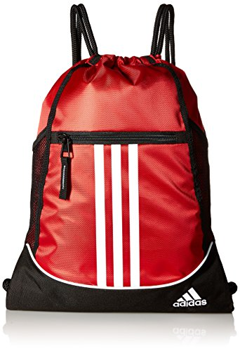 adidas Alliance II Sackpack, One Size, Power Red/Black/White