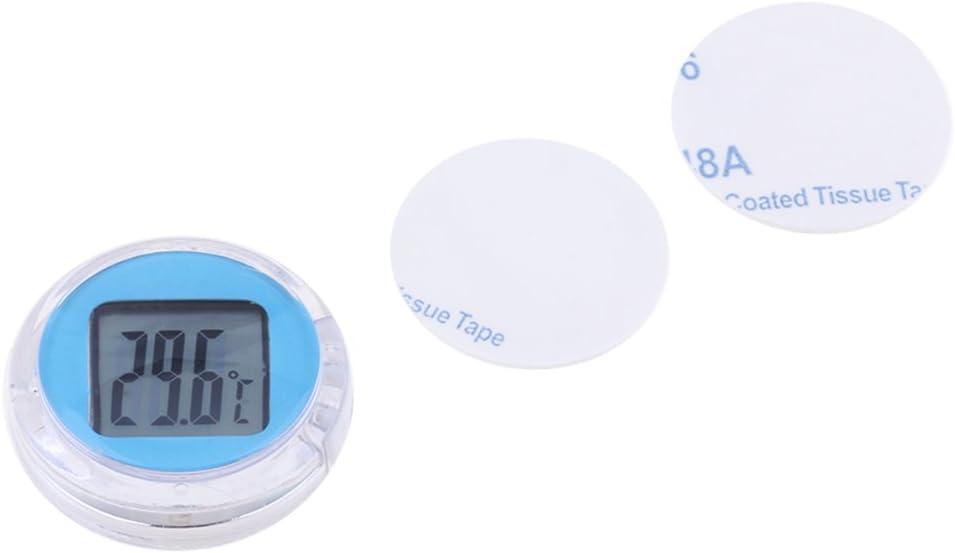 FLAMEER Motorrad Fahrrad Temperatur Messger/ät Mini Digital Thermometer Schwarz