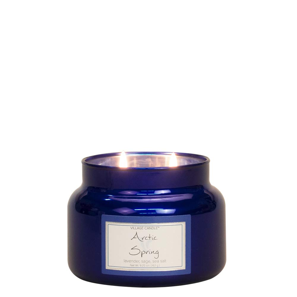 Village Candle Arctic Spring 11 oz Metallic Jar Scented Candle Small