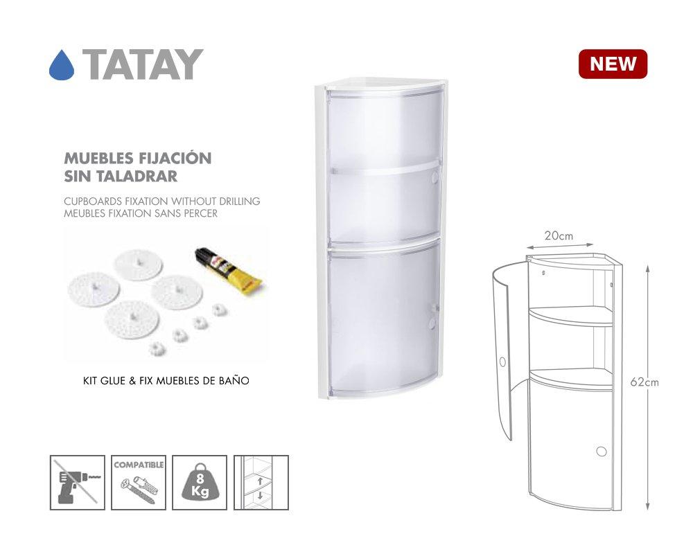 Tatay 4480101 Armario De Ba O Rinconero Vertical En Pp 20 X 20  # Muebles Rinconera Bano