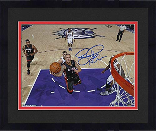(Framed Shabazz Napier Miami Heat Signed 8x10 Photograph - Steiner Sports Certified - Autographed NBA Photos)