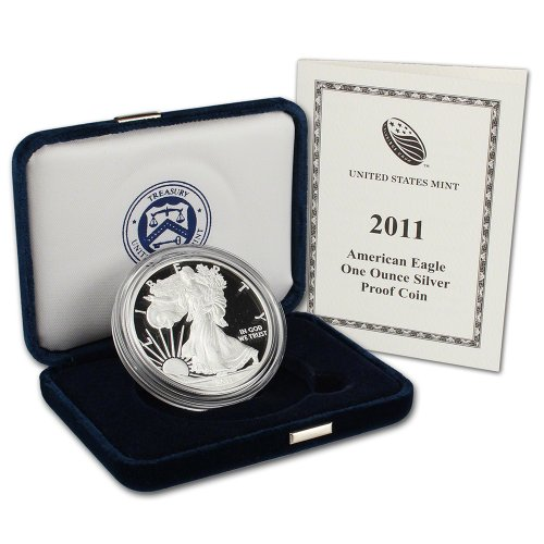 2011 W American Silver Eagle $1 Original Government Packaging US Mint ()