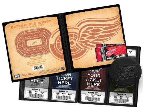NHL Detroit Red Wings Vintage Design Ticket Album, One Size