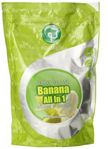 Possmei Bubble Tea Mix Instant Powder, Banana, 2.2 Pound ()