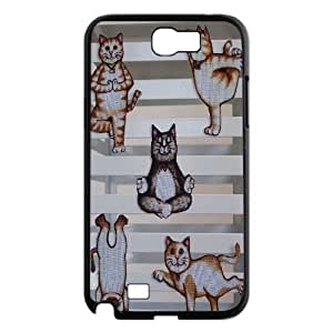 Yoga Cats Personalized Cover Case for Samsung Galaxy Note 2 N7100,customized phone case ygtg572399 by icecream design
