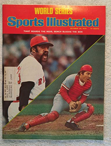 Luis Tiant & Johnny Bench - 1975 World Series - Boston Red Sox vs Cincinnati Reds - Sports Illustrated - October 20, 1975 - ()