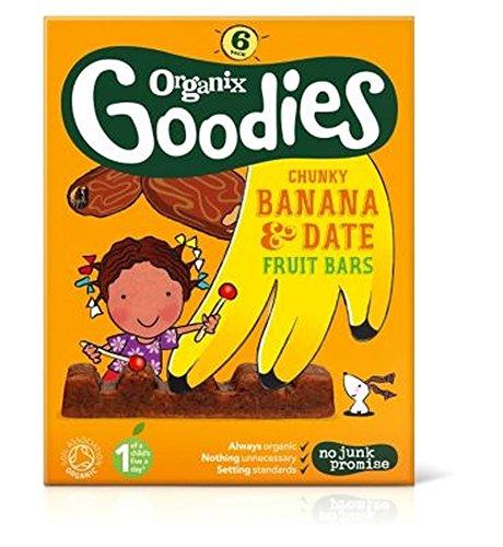 Organix Goodies Banana & Date Chunky Fruit Bars 6X17G (102G) - Pack of 2