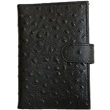 Women's Black Genuine Leather Passport Holder Kristy.X