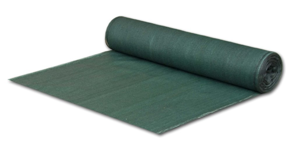 Bradas Layflat as CO135150 50g Plane also Fence Panel, Sun Protection, 15 mm x 50 m, 135g/m² 90% Privacy Screen, Dark Green 5907544409403