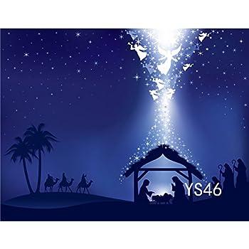lb 7x5ft poly fabric christmas photography backdrops customized christmas manger scene nativity story photo studio background props ys46