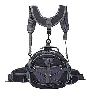 Outdoor Sports Travel Bag Fashion Leisure Waist Bag Durable Unisex Camping Hiking Bike Waist Pack Bum Water Bottle Holder Riding Cycling Climbing Bag Pouch Trekking Bag TLH323hei
