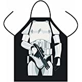 Funny STAR WARS Aprons Black/ White Warrior Apron Cartoon cosplay Party Bibs Darth Vader/ Storm Trooper wholesale Cooking Apron (white warrior)
