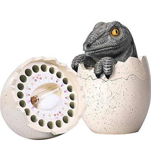 (Creation Core Tyrannosaurus Rex Baby Teeth Save Box Resin Baby Teeth Keepsake Creative Kids Teeth Storage for Boy Tyrannosaurus Rex Egg Tooth Fairy Box for Girls)