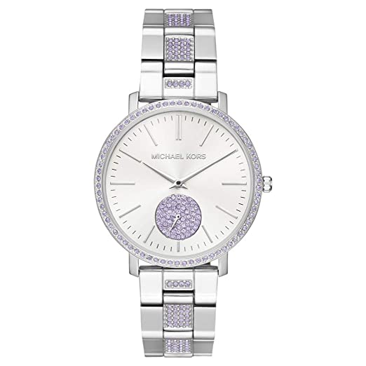 bcc9a51093ef Michael Kors JARYN Lilac Crystals Watch MK3855 Ladies Watch  Amazon.co.uk   Watches
