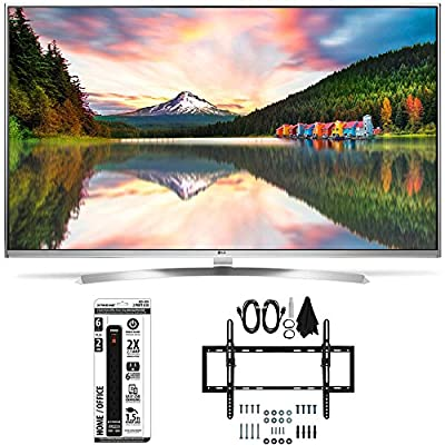 LG 60UH8500 - 60-Inch Super Ultra HD 4K Smart LED TV Flat + Tilt Wall Mount Bundle includes LG 60UH850 4K TV, Flat & Tilt Wall Mount Ultimate Kit and 6 Outlet Power Strip with USB Ports