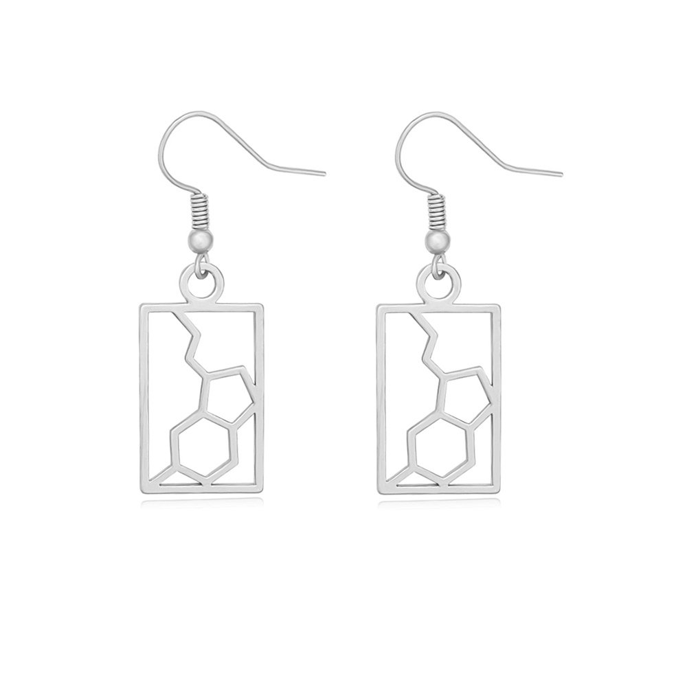 TUSHUO 3 Colors Serotonin Molecular Structure Earrings Molecular Jewelry Gift for Doctor Nurse